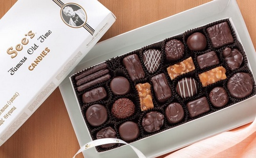 See's Candies chocolate box.