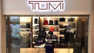Tumi luggage store The Landmark shopping center Hong Kong.