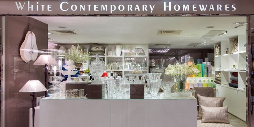 White Contemporary Homewares store Landmark Hong Kong.