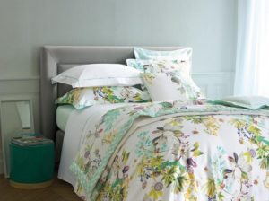 Yves Delorme bed linen.