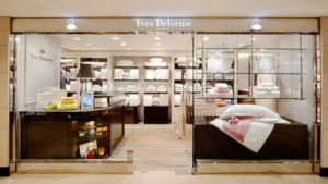 Yves Delorme linen store Landmark Hong Kong.