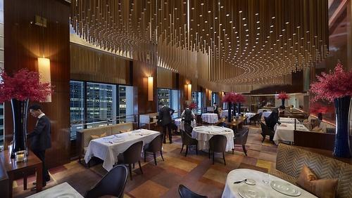 Amber French fine dining restaurant Landmark Mandarin Oriental Hong Kong.