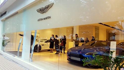 Aston Martin Hong Kong car dealership.