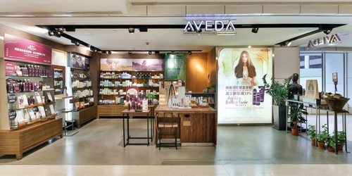 Aveda beauty store Landmark Hong Kong.