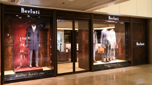 Berluti men's clothing shop Harbour City Hong Kong.