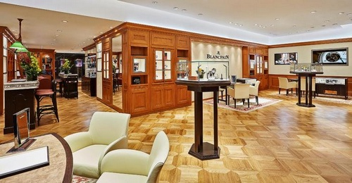 Blancpain watch store 29 Queen's Road Central, Hong Kong.