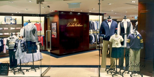 Brooks Brothers clothing shop Landmark Hong Kong.