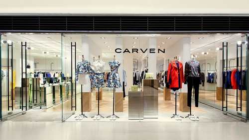 Carven clothing shop Landmark Hong Kong.
