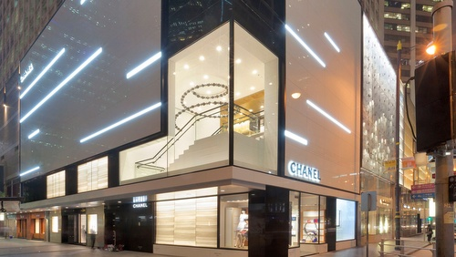 Chanel shop Landmark Hong Kong.