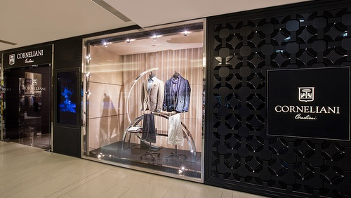 Corneliani men's clothing store Landmark Hong Kong.