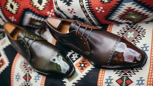 Corthay's Three Eyelet Derby Shoes for men.