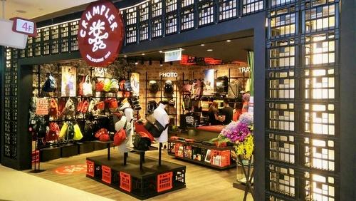 Crumpler bag store Hysan Place Hong Kong.