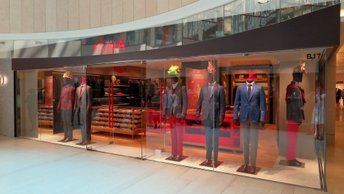 Isaia clothing store Landmark Hong Kong.