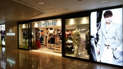 J.Lindeberg clothing shop Harbour City Hong Kong.