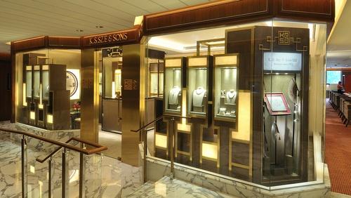 K.S. Sze & Sons jewellery store Landmark Hong Kong.