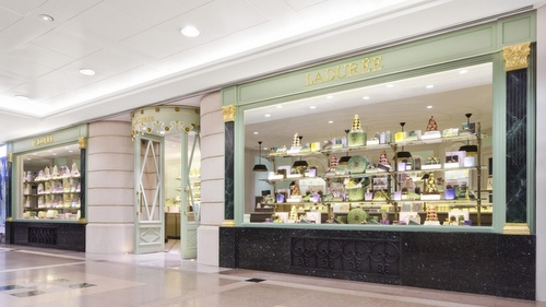 Ladurée pastry shop Harbour City Hong Kong.