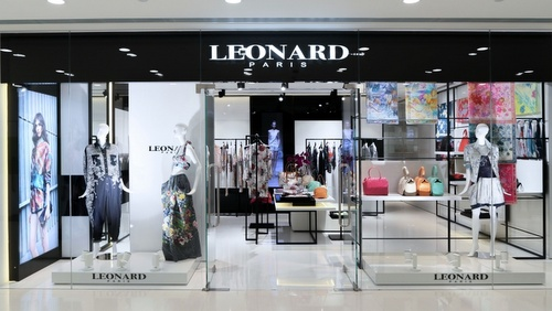 Leonard Paris clothing store Harbour City Hong Kong.