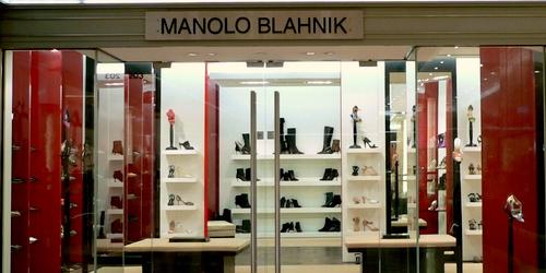 Manolo Blahnik shoe store Landmark Hong Kong.