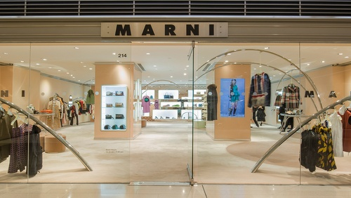 Marni clothing shop Landmark Hong Kong.