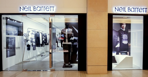Neil Barrett clothing shop Landmark Hong Kong.