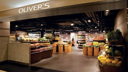 Oliver's The Delicatessen gourmet food shop Landmark Hong Kong.
