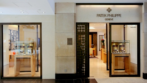 Patek Philippe watch store Landmark Hong Kong.