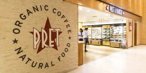 Pret A Manger shop Landmark Hong Kong.
