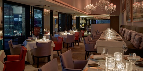SEVVA restaurant dining room Hong Kong.