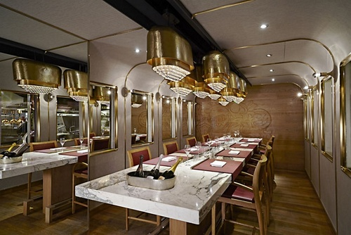 The Krug Room restaurant Landmark Mandarin Oriental Hong Kong.
