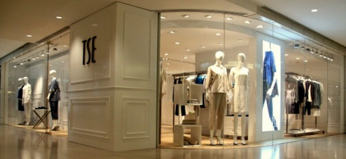 TSE clothing store Landmark Hong Kong.