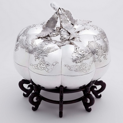 Wai Kee Jewellers Sterling Silver Chinese Candy Box