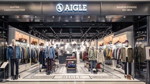Aigle globe-trotter concept clothing store K11 Art Mall Hong Kong.