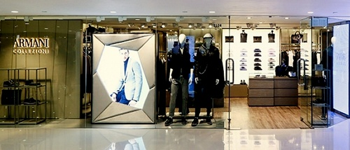 Armani Collezioni men's clothing Harbour City Hong Kong.