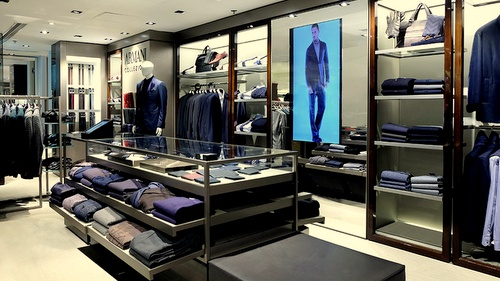 Armani Collezioni SOGO department store Causeway Bay Hong Kong.
