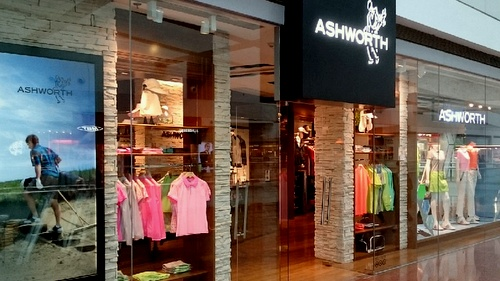 Ashworth golf apparel shop Festival Walk Hong Kong.