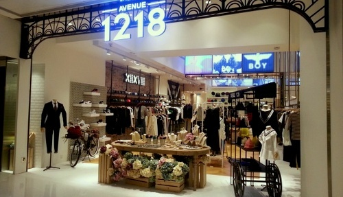 Avenue 1218 clothing store New Town Plaza Hong Kong.