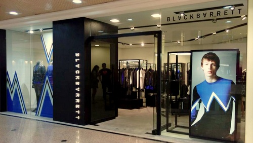 BLACKBARRETT menswear clothing store Times Square Hong Kong.