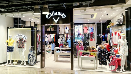 Callaway Golf Apparel shop Harbour City Hong Kong.
