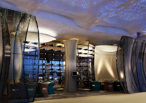 SKYE rooftop restaurant The Park Lane Hotel Hong Kong.