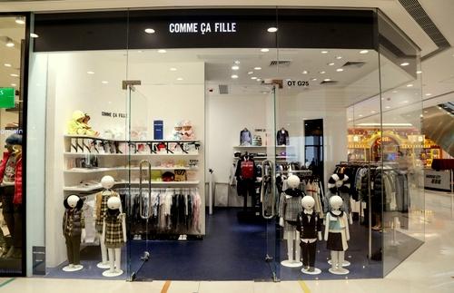 Comme Ça Fille childrens clothing shop Harbour City Hong Kong.