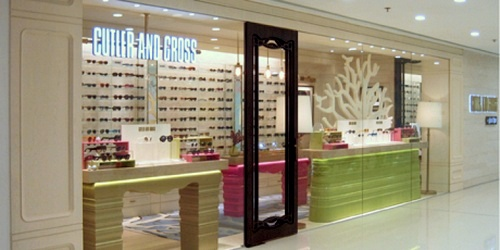 Cutler and Gross optical store Harbour City Hong Kong.