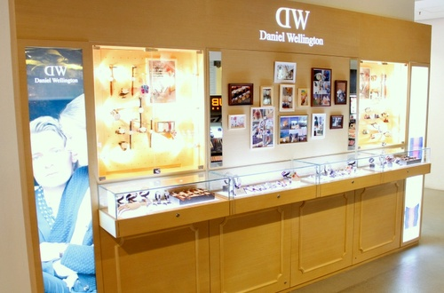 Daniel Wellington watch shop Harbour City Hong Kong.