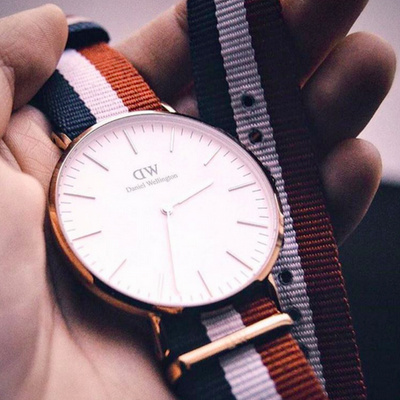Daniel Wellington NATO strap watch.