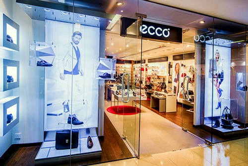 ECCO shoe shop Cityplaza Hong Kong.