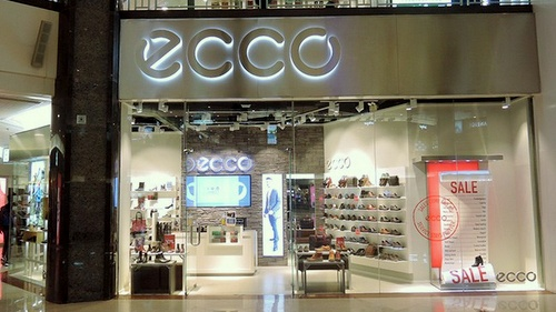 ECCO shoe store Plaza Hollywood Hong Kong.