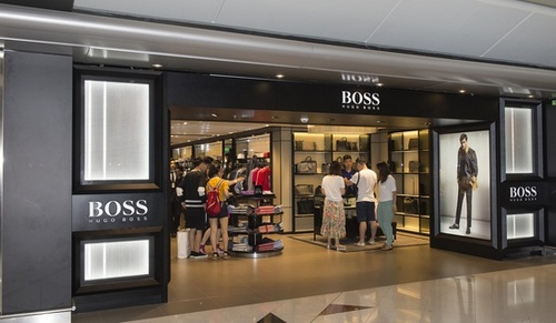 Hugo Boss store Hong Kong International Airport.