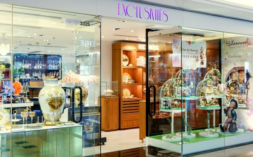 Exclusivites homeware store Harbour City Hong Kong.