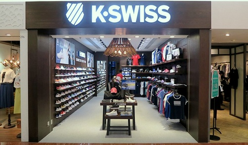 K-Swiss shoe store Plaza Hollywood Hong Kong.