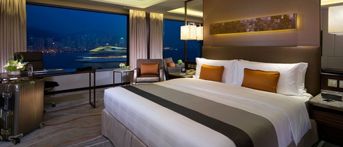 InterContinental Grand Stanford Hong Kong Hotel Premier Harbour View Room.