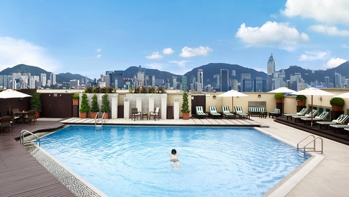 InterContinental Grand Stanford Hong Kong Hotel Sun Court Pool.
